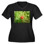 Sweet Berry Women's Plus Size V-Neck Dark T-Shirt