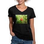 Sweet Berry Women's V-Neck Dark T-Shirt