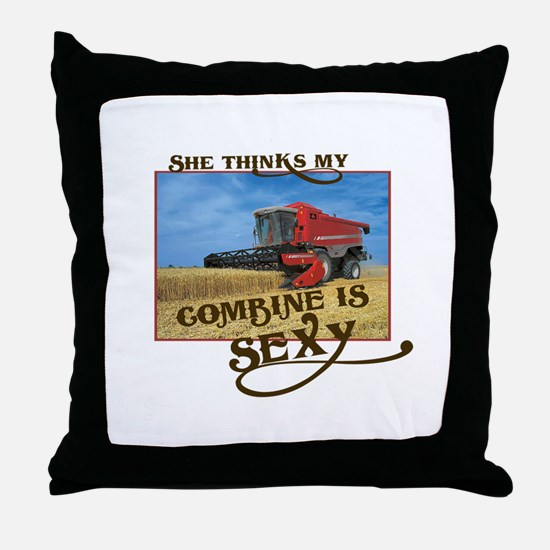 She Thinks My Combine is Sexy Throw Pillow
