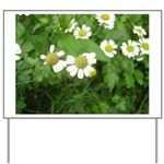 White Flower Yard Sign