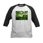 White Flower Kids Baseball Jersey