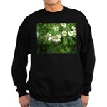 White Flower Sweatshirt (dark)