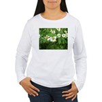 White Flower Women's Long Sleeve T-Shirt