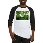 White Flower Baseball Jersey