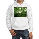 White Flower Hooded Sweatshirt