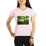 White Flower Performance Dry T-Shirt
