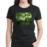 White Flower Women's Dark T-Shirt