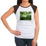 White Flower Women's Cap Sleeve T-Shirt