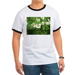 White Flower Ringer T
