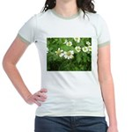 White Flower Jr. Ringer T-Shirt
