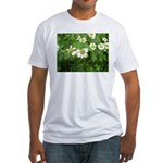 White Flower Fitted T-Shirt