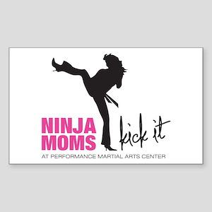 Ninja Moms Kick It at PMAC Sticker (Rectangle)