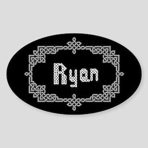 """""""Celtic Knots Ryan"""" Oval Sticker"""