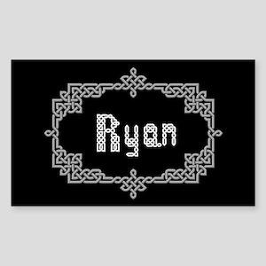 """""""Celtic Knots Ryan"""" Rectangle Sticker"""