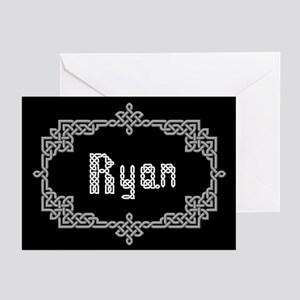 """""""Celtic Knots Ryan"""" Greeting Cards (Pk of 10)"""