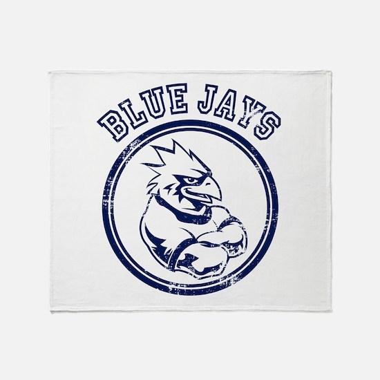 Blue Jays Team Mascot Graphic Throw Blanket