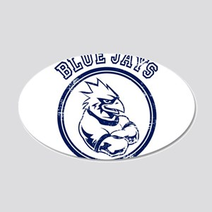 Blue Jays Team Mascot Graphic 22x14 Oval Wall Peel
