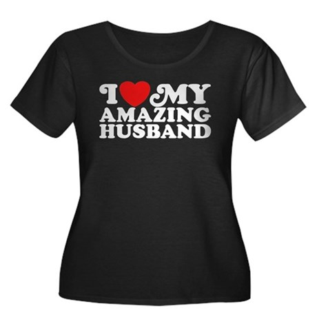 I Love My Amazing Husband Women's Plus Size Scoop