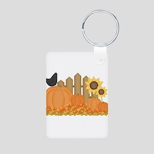 Autumn Pumpkins Aluminum Photo Keychain
