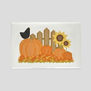 Autumn Pumpkins Rectangle Magnet