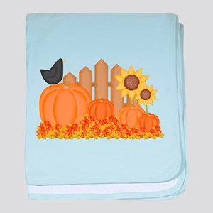 Autumn Pumpkins baby blanket