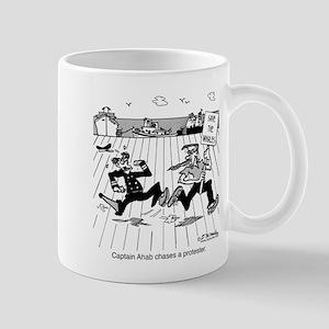 Captain Ahab Chases A Protester Mug