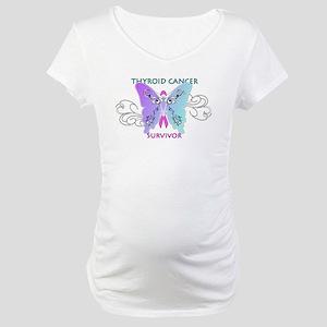 Thyroid Cancer Survivor Maternity T-Shirt