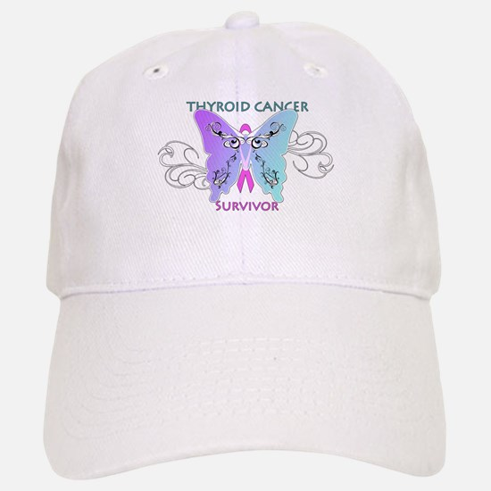 Thyroid Cancer Survivor Butterfly Baseball Baseball Cap