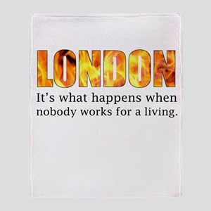 London Riots 2011 Throw Blanket