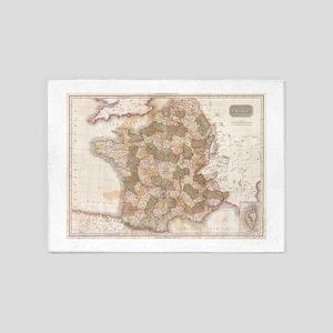 Vintage Map of France (1818) 5'x7'Area Rug