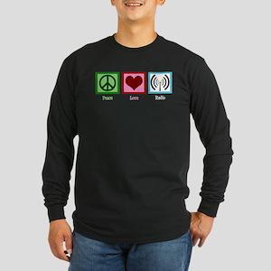Peace Love Radio Long Sleeve Dark T-Shirt