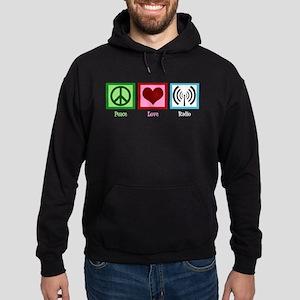 Peace Love Radio Hoodie (dark)