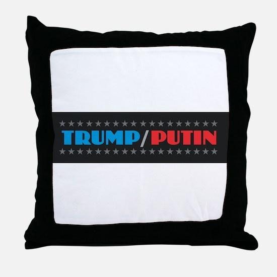 Trump Putin Throw Pillow
