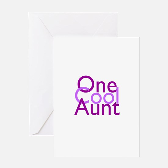 One Cool Aunt Greeting Card