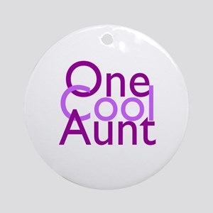One Cool Aunt Ornament (Round)