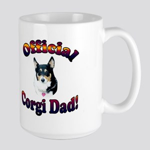 Official Corgi Dad-Mist Large Mug