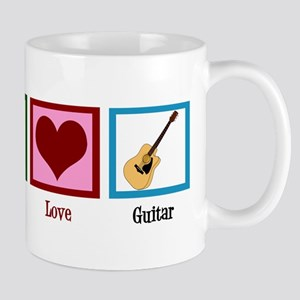 Peace Love Guitar Mug