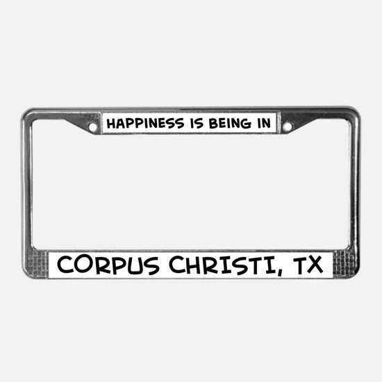Happiness is Corpus Christi License Plate Frame