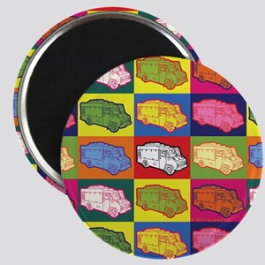 Food Truck Pop Art Magnet