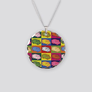 Food Truck Pop Art Necklace Circle Charm