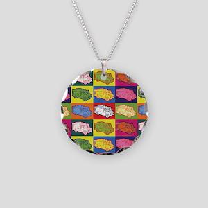 Food Truck Pop Art Necklace Circle Charm