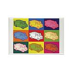 Food Truck Pop Art Rectangle Magnet (10 pack)