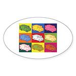 Food Truck Pop Art Sticker (Oval)
