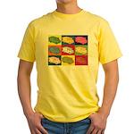Food Truck Pop Art Yellow T-Shirt