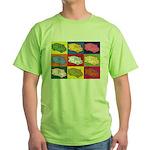 Food Truck Pop Art Green T-Shirt