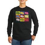 Food Truck Pop Art Long Sleeve Dark T-Shirt