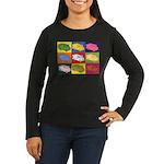 Food Truck Pop Art Women's Long Sleeve Dark T-Shir