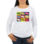Food Truck Pop Art Women's Long Sleeve T-Shirt