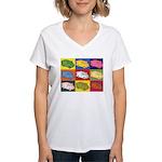 Food Truck Pop Art Women's V-Neck T-Shirt