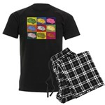 Food Truck Pop Art Men's Dark Pajamas